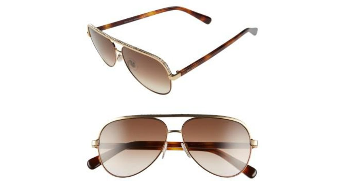 da05bb8aedcd Lyst - Jimmy Choo  linas  59mm Aviator Sunglasses in Pink