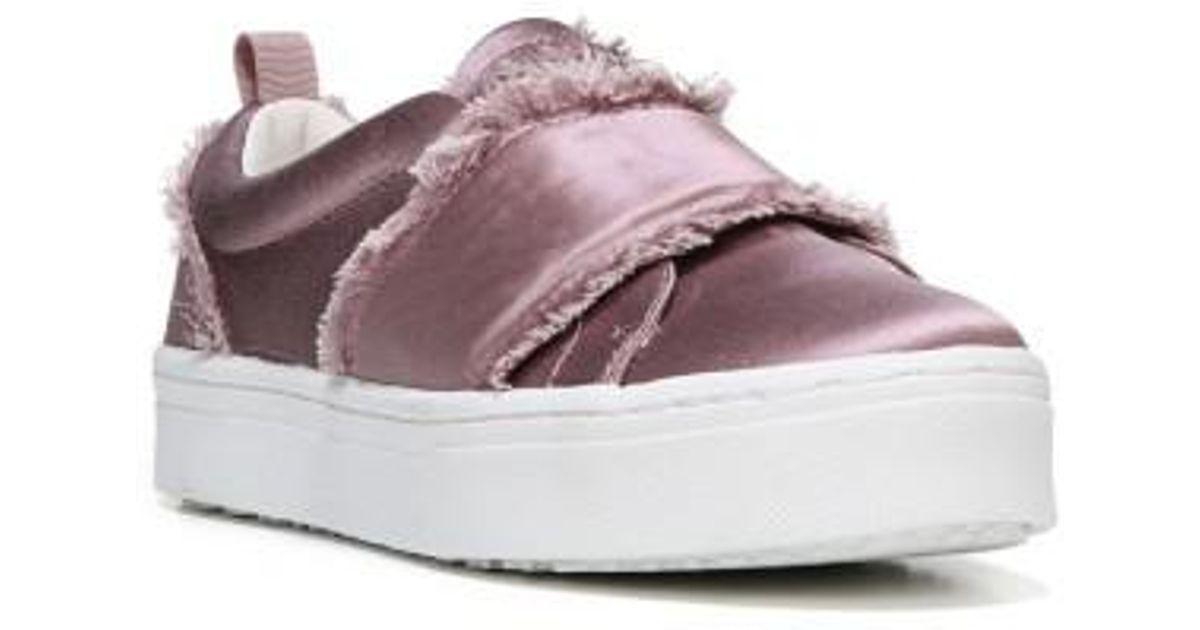 5e228e4a71601 Lyst - Sam Edelman Levine Fringe Slip-on Platform Sneaker in Pink