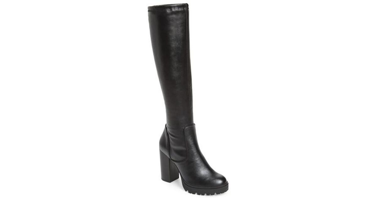 8bb460227b4 Steve Madden Black Lately Knee High Boot