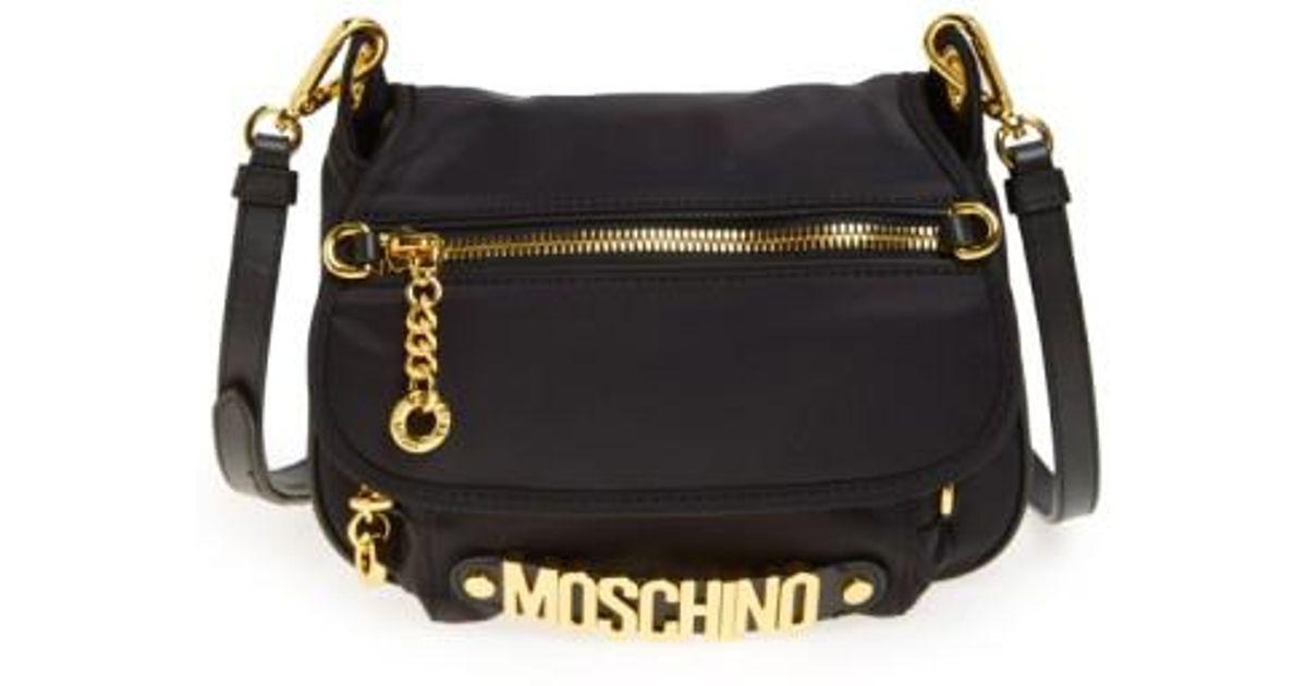 9bc705187 Moschino Nylon Crossbody Bag in Black - Lyst