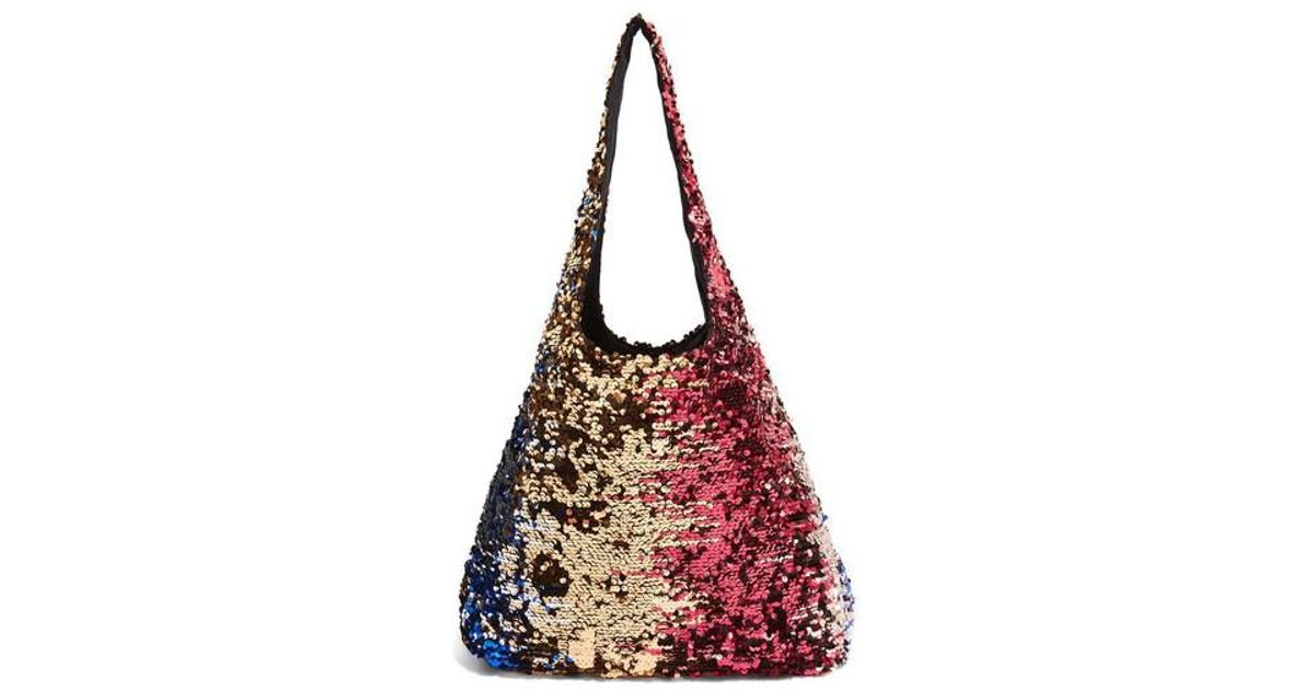e2822b82167f5 TOPSHOP Pink Freedom Sequin Shoulder Bag