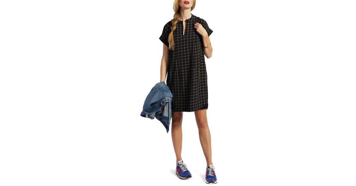 e220f2359d Lyst - Loyal Hana Riley Plaid Maternity nursing Shirtdress in Black
