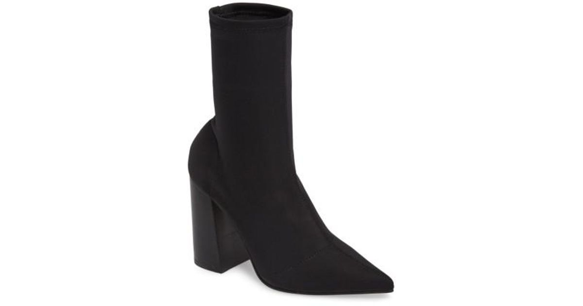Steve Madden Lombard Pointed Toe Sock Bootie Cys1B