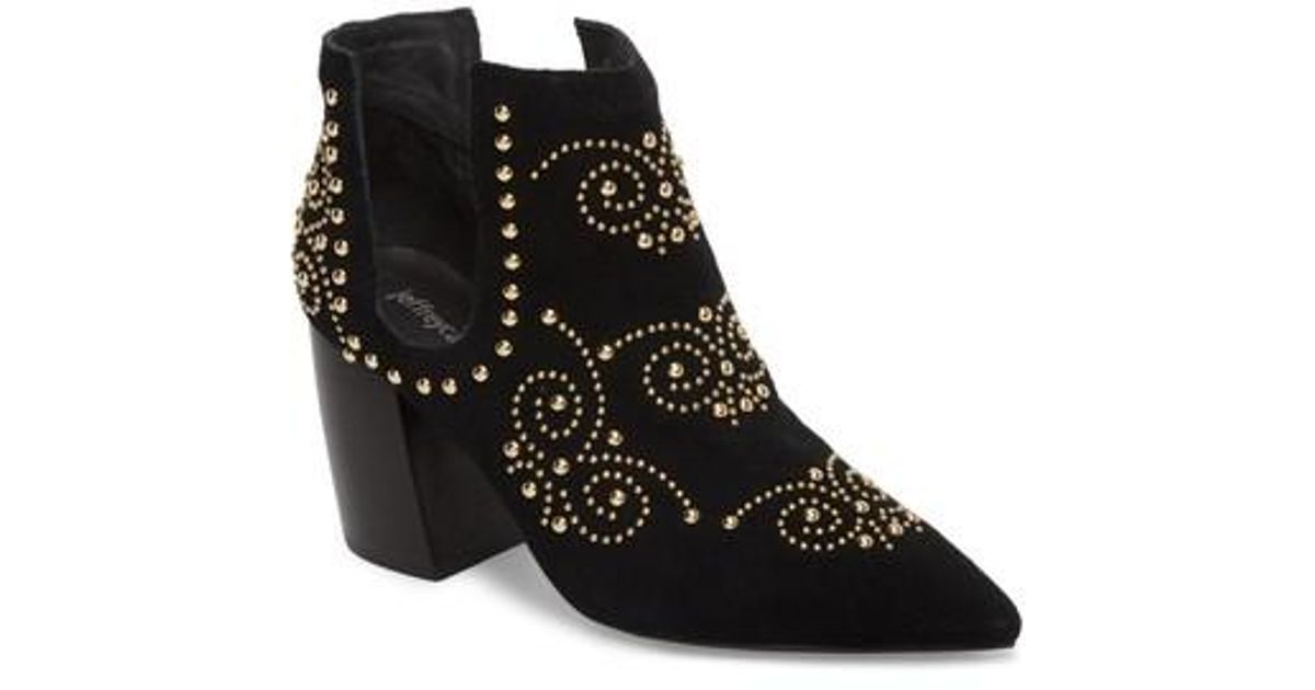 1943160dc1f Jeffrey Campbell Black Ornella Studded Bootie