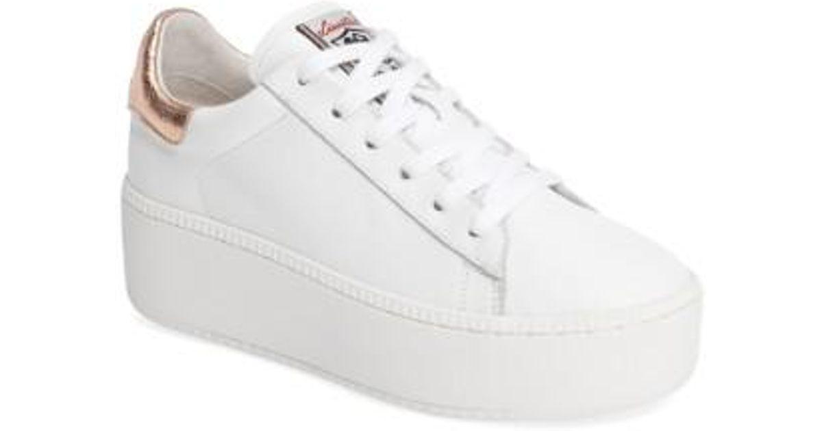Lyst - Ash Cult Platform Wedge Sneaker in White