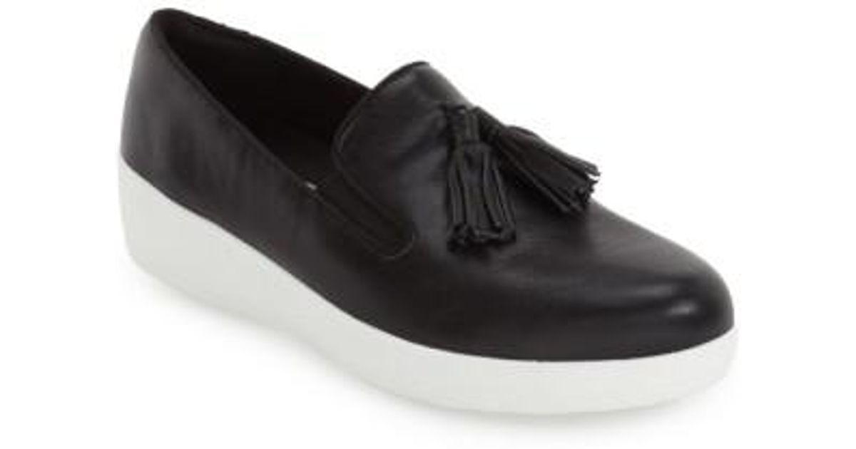 c0973436d31 Lyst - Fitflop  Superskate  Wedge Sneaker in Black