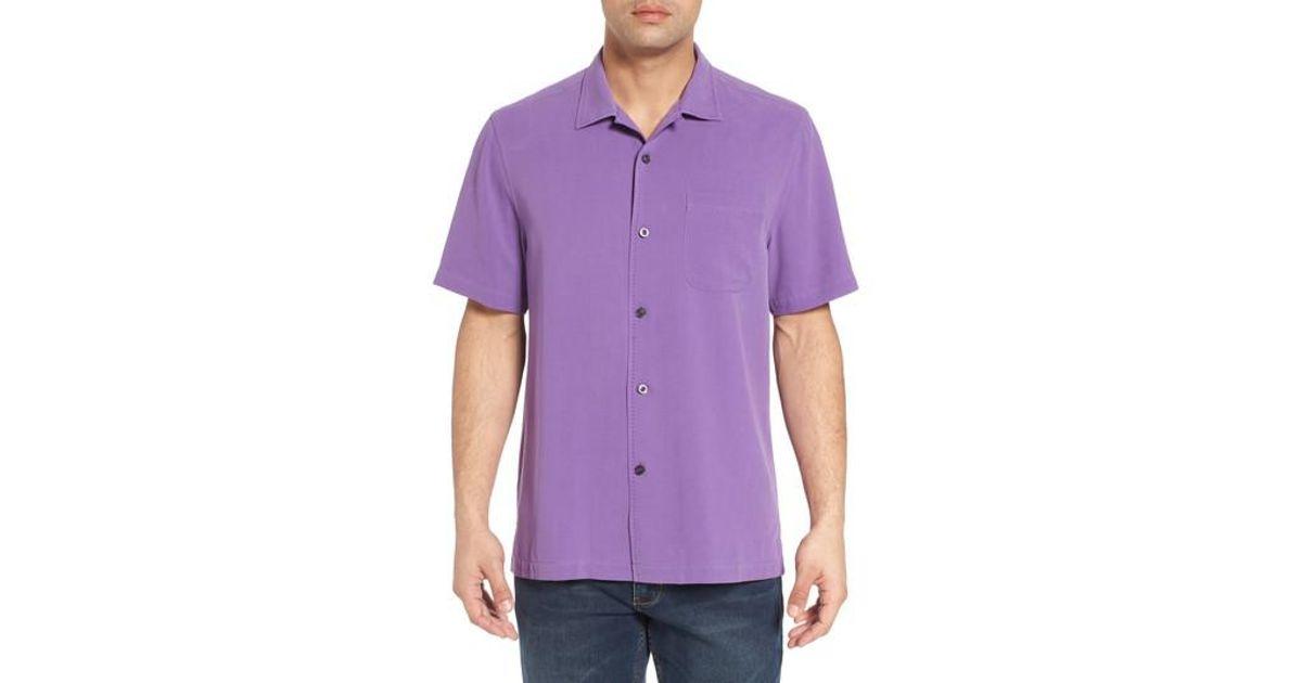 Lyst tommy bahama catalina silk camp shirt in purple for men for Tommy bahama catalina twill silk camp shirt