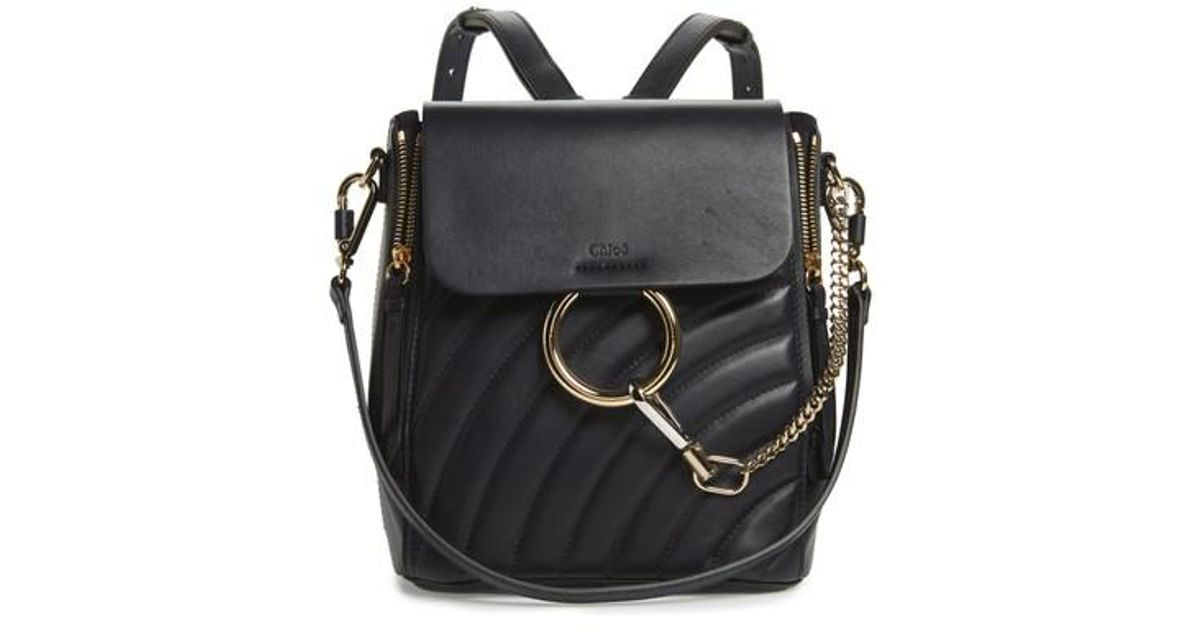 e96c81c1 Chloé Black Small Faye Quilted Leather Backpack
