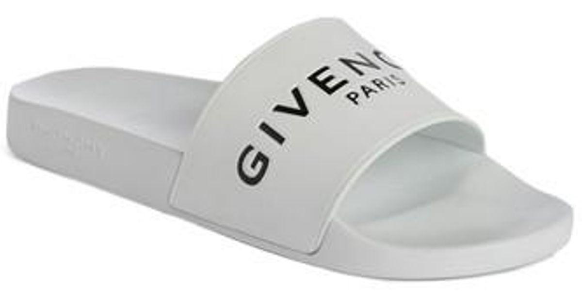 Givenchy Slide Sandal in White/ White