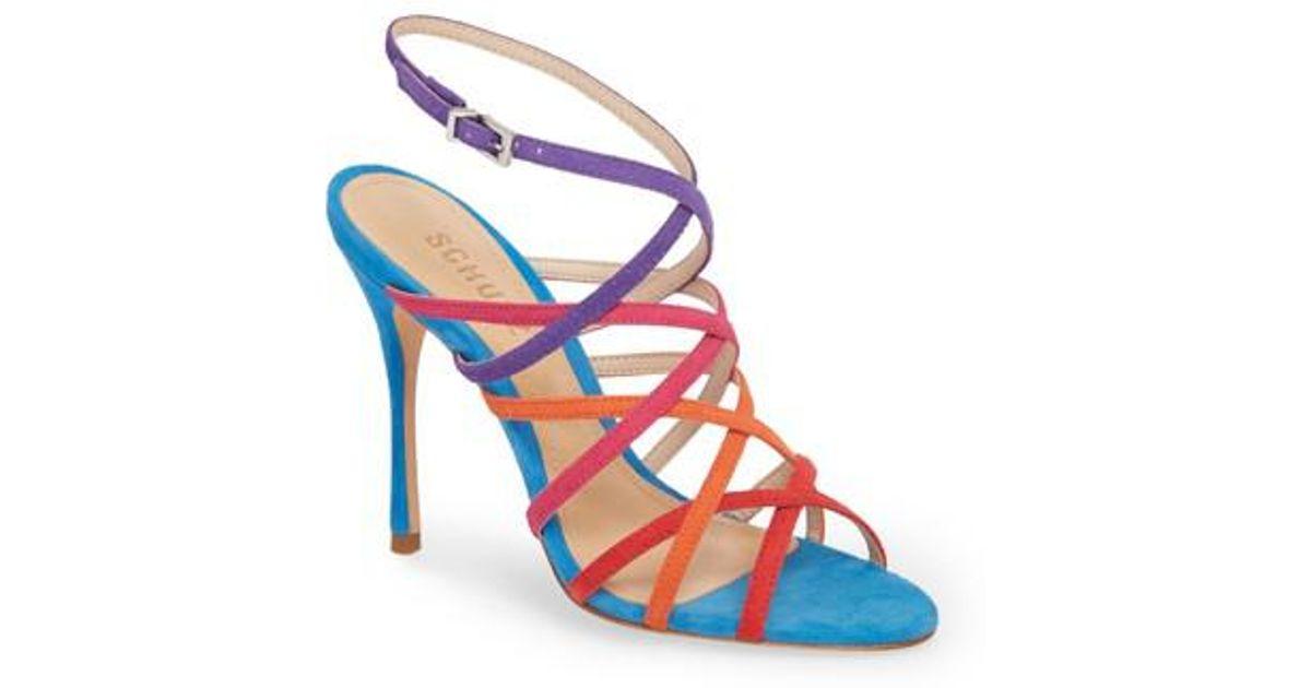 Schutz Lizbeth Suede Ankle-Strap Sandals OqQUbFM