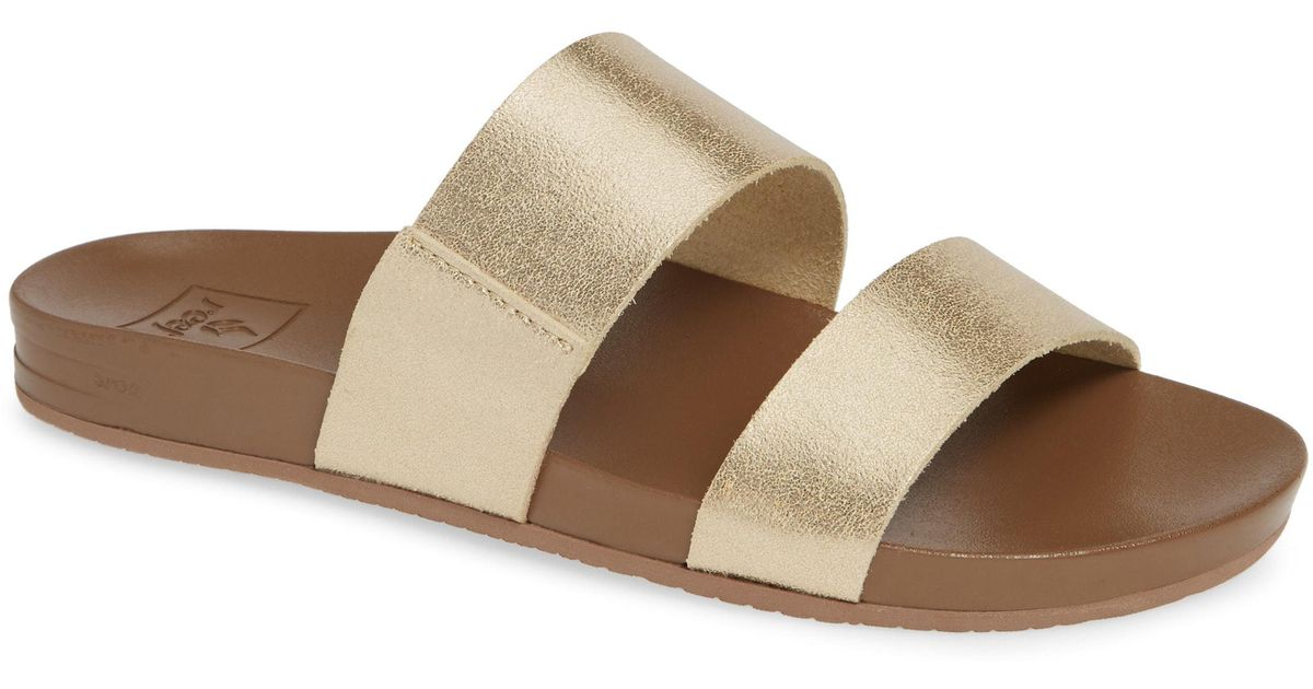 28de787eb2e6 Lyst - Reef Cushion Bounce Vista Slide Sandal in Metallic