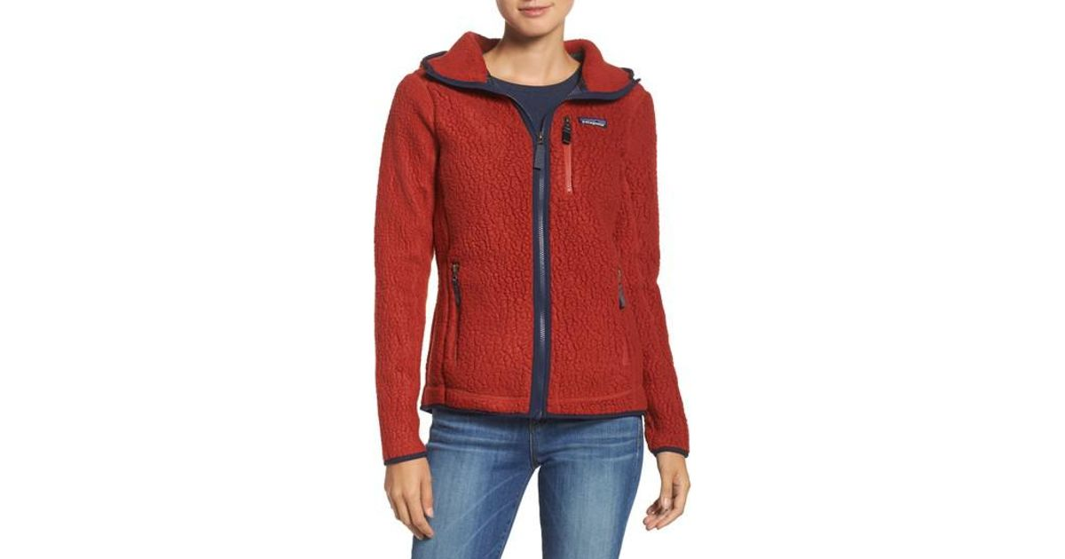 Lyst - Patagonia Retro Pile Hoodie in Red 4d085f158