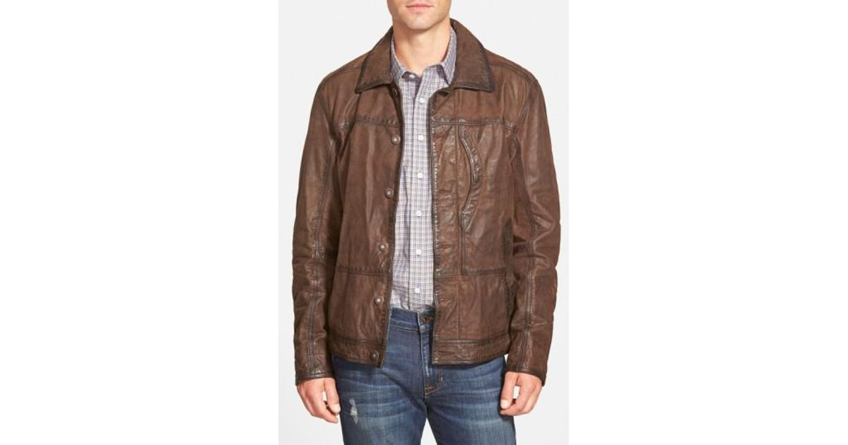 1b3b55197 Timberland Brown 'tenon' Leather Jacket for men