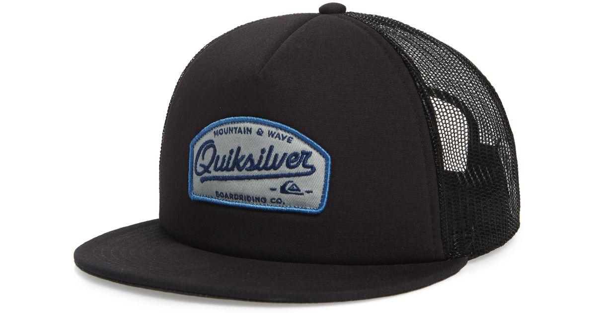 e0cbca695 Quiksilver - Black Past Checker Trucker Hat - for Men - Lyst