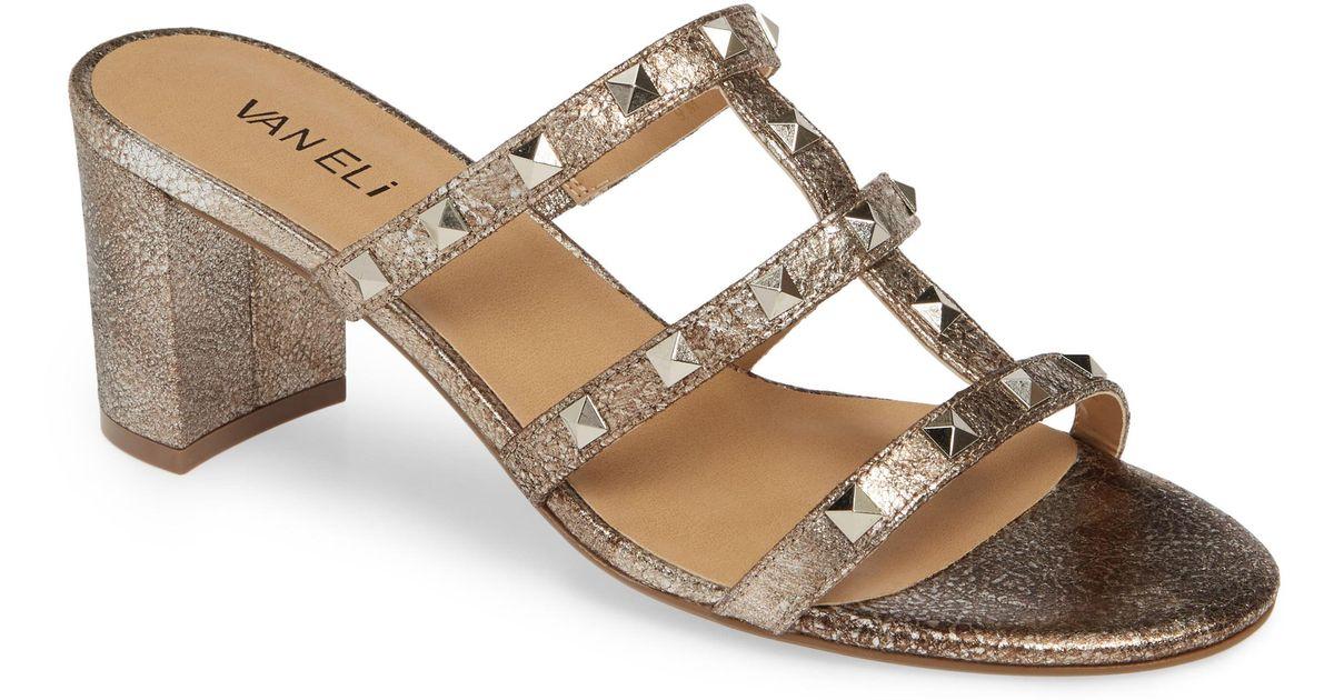 Vaneli Mayda Studded Slide Sandal - Lyst