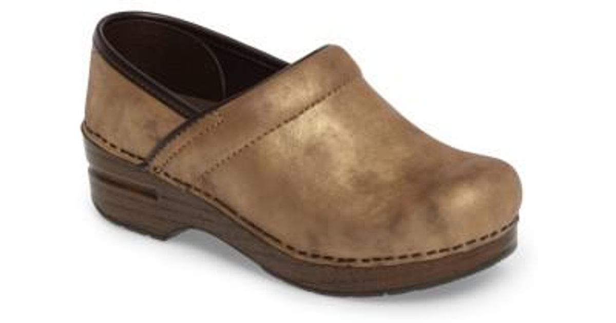 Lyst Dansko Distressed Professional Clog In Brown