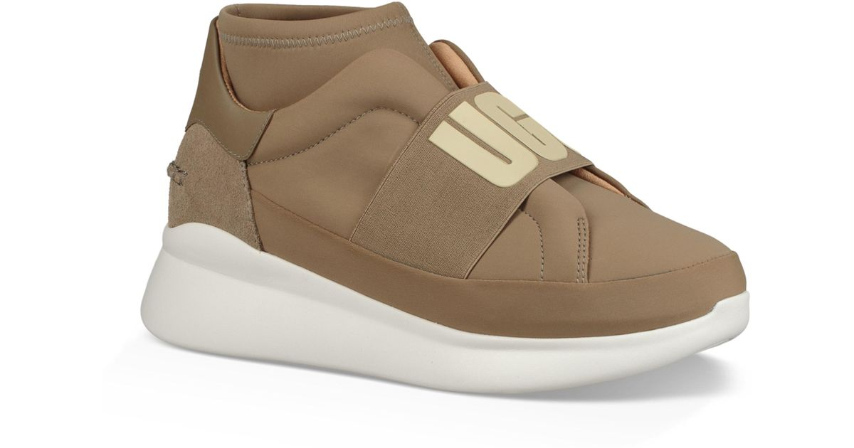 UGG Ugg Neutra Sock Sneaker in Brown - Lyst