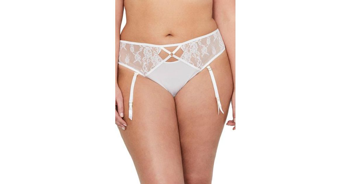 1901552ceb1db Lyst - Ashley Graham Showstopper Thong in White