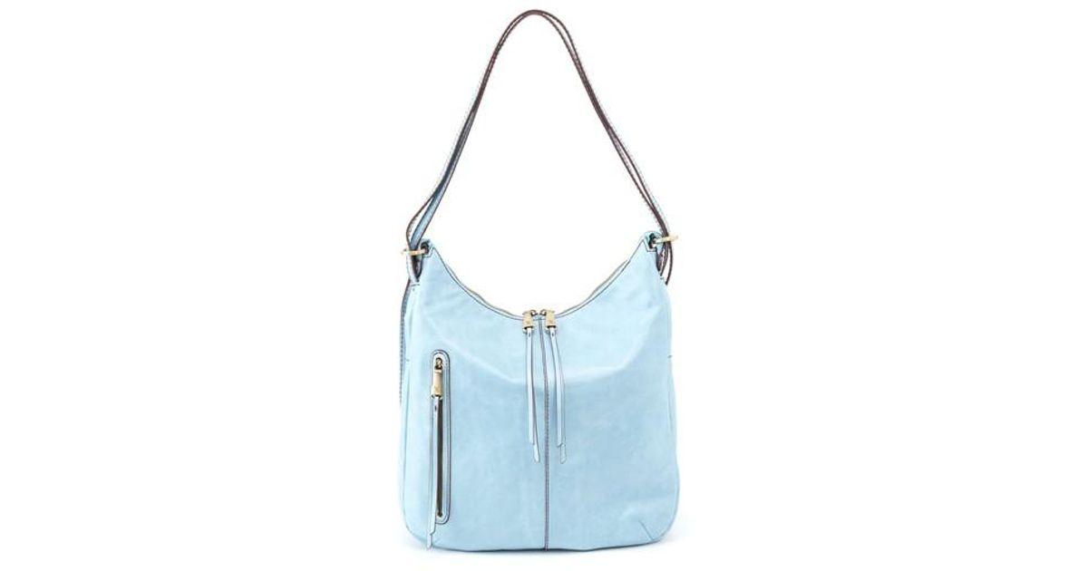 1fc92c439e Lyst - Hobo Merrin Leather Backpack in Blue