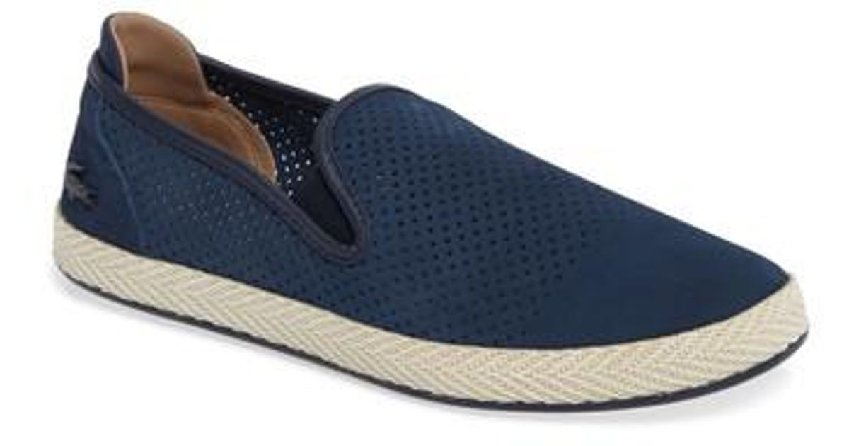 8dc15a2748e62b Lyst - Lacoste Tombre Slip-on in Blue for Men