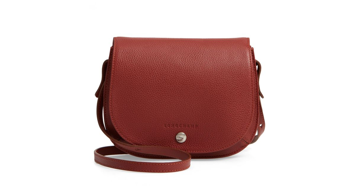 Longchamp Brown Small Le Foulonne Leather Crossbody Bag