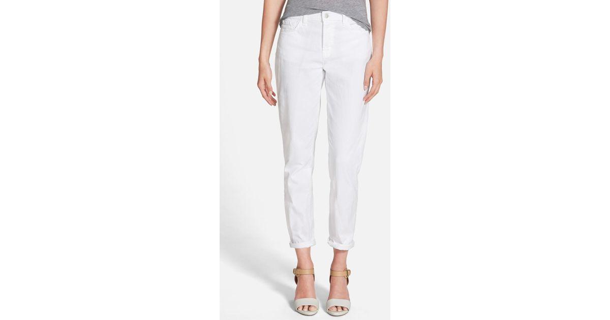 df6219a552ade Lyst - J Brand Georgia High Rise Boyfriend Jean in White