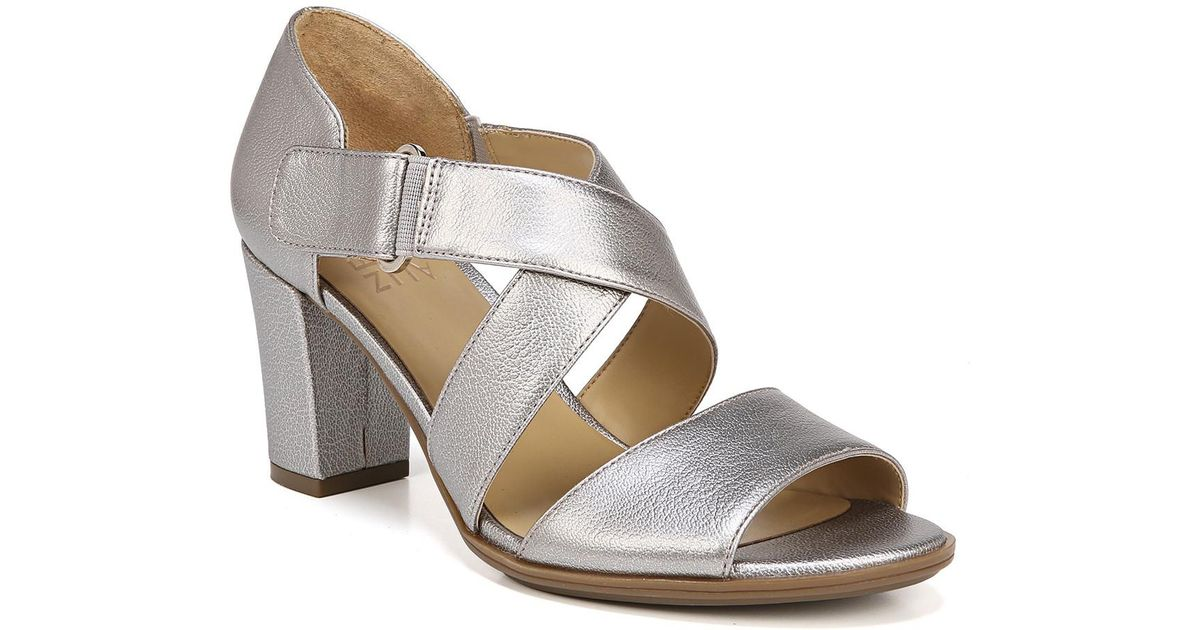 bafd21d0c895 Lyst - Naturalizer Lindy Sandal - Wide Width Available in Metallic