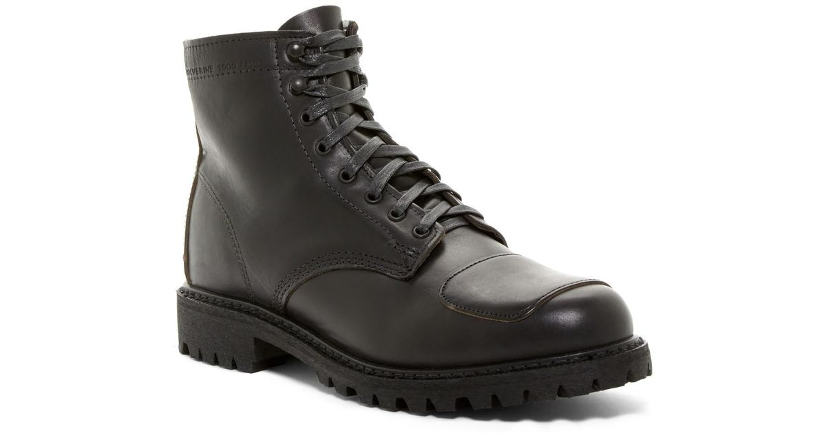 8d3cc9075c1 Wolverine Black Dylan Moto Boot for men
