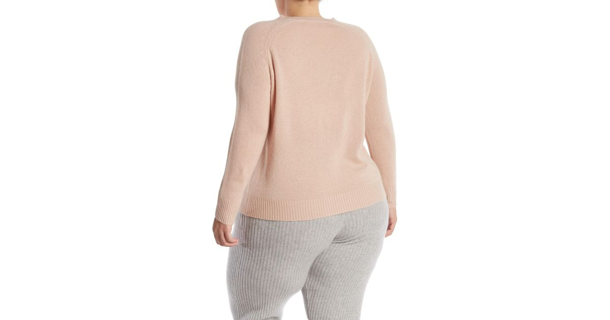 ed82c8559b9 Lyst - NAKEDCASHMERE Lana Crew Neck Cashmere Sweater (plus Size) in Natural