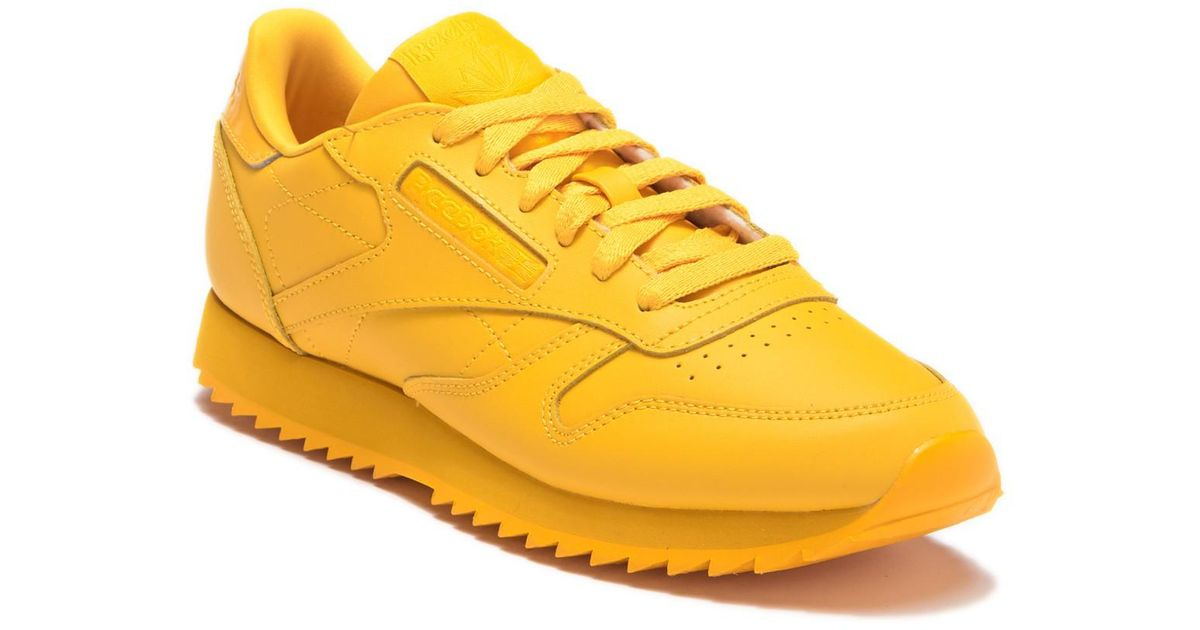 a7cb715d2ae8e Lyst - Reebok Classic Leather Ripple Sneaker in Yellow