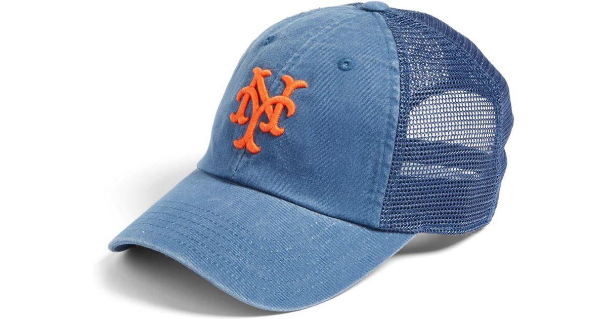 7a4534fcdd9 Lyst - American Needle Raglan Bones - New York Mets Trucker Hat in Blue for  Men
