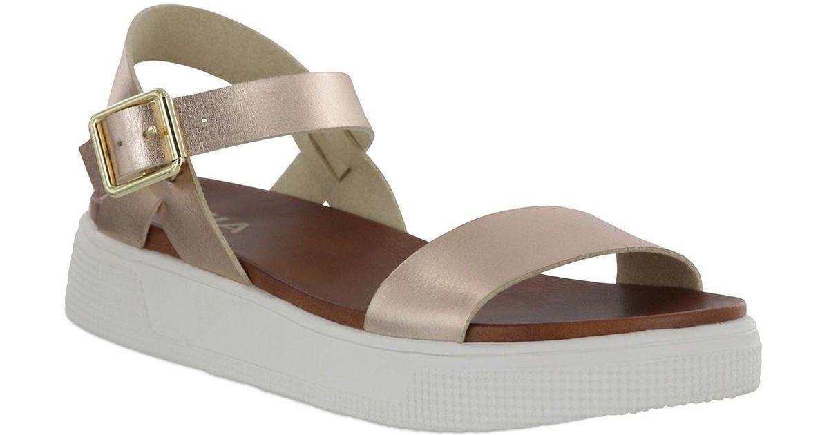 MIA Abby Open Toe Platform Sandal - Lyst