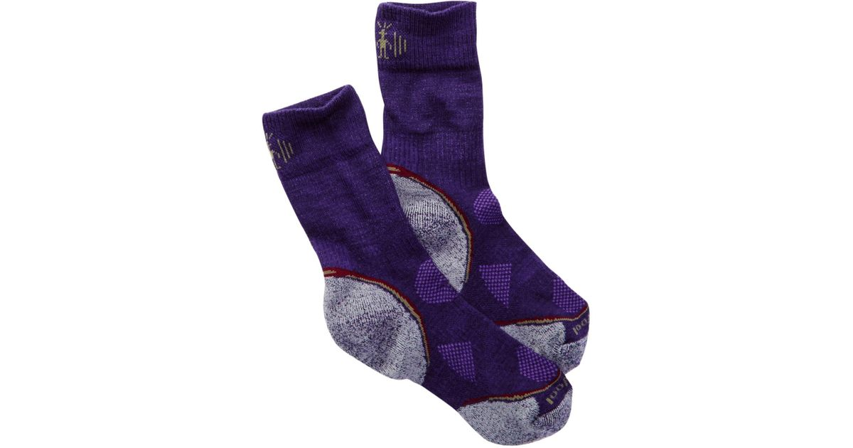 Lyst smartwool phd outdoor light crew socks in purple for men aloadofball Image collections