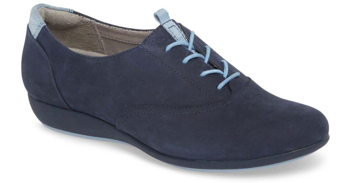 Dansko Kimi Wedge Sneaker in Navy (Blue
