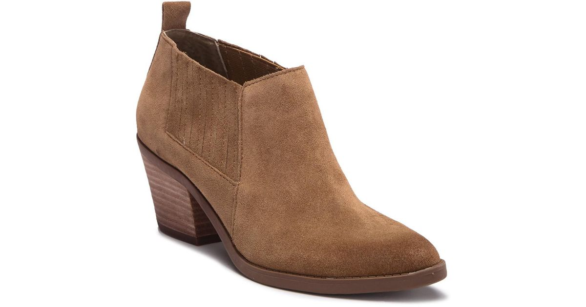 Dolce Vita Elfy Suede Bootie in Brown