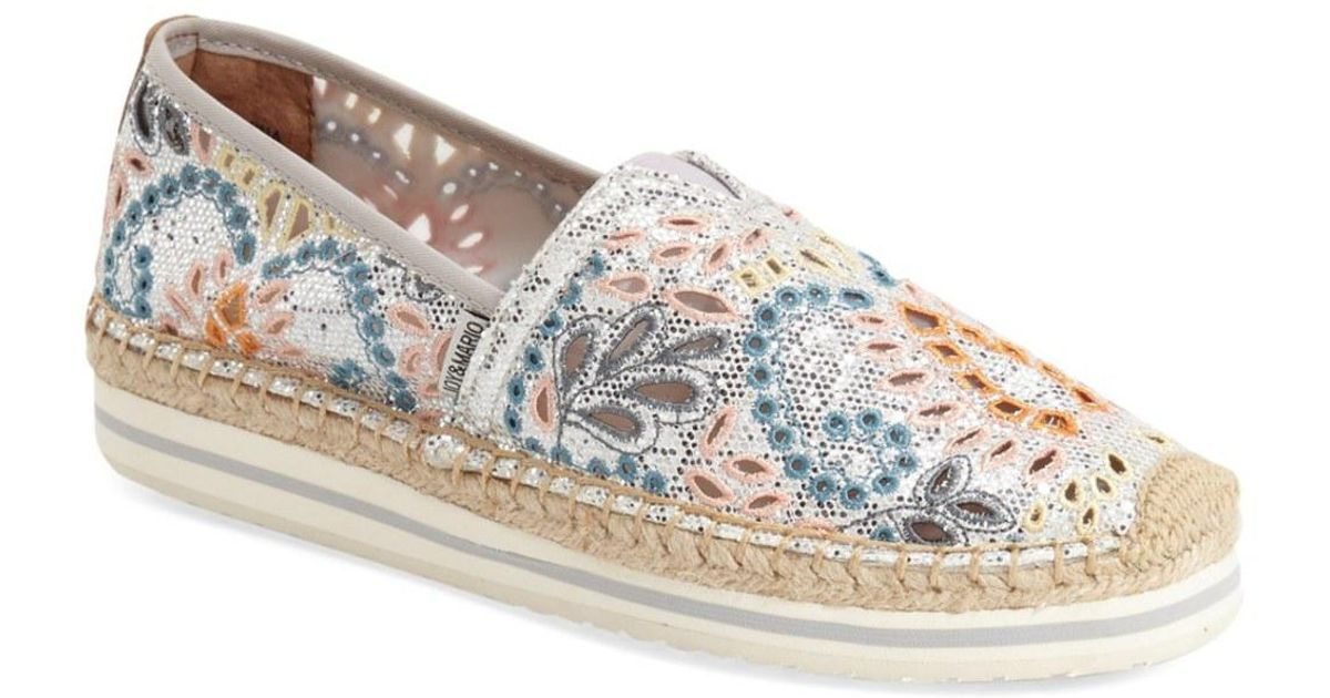 6521e30767f Joy & Mario Metallic 'fortaleza' Espadrille Slip-on (women)