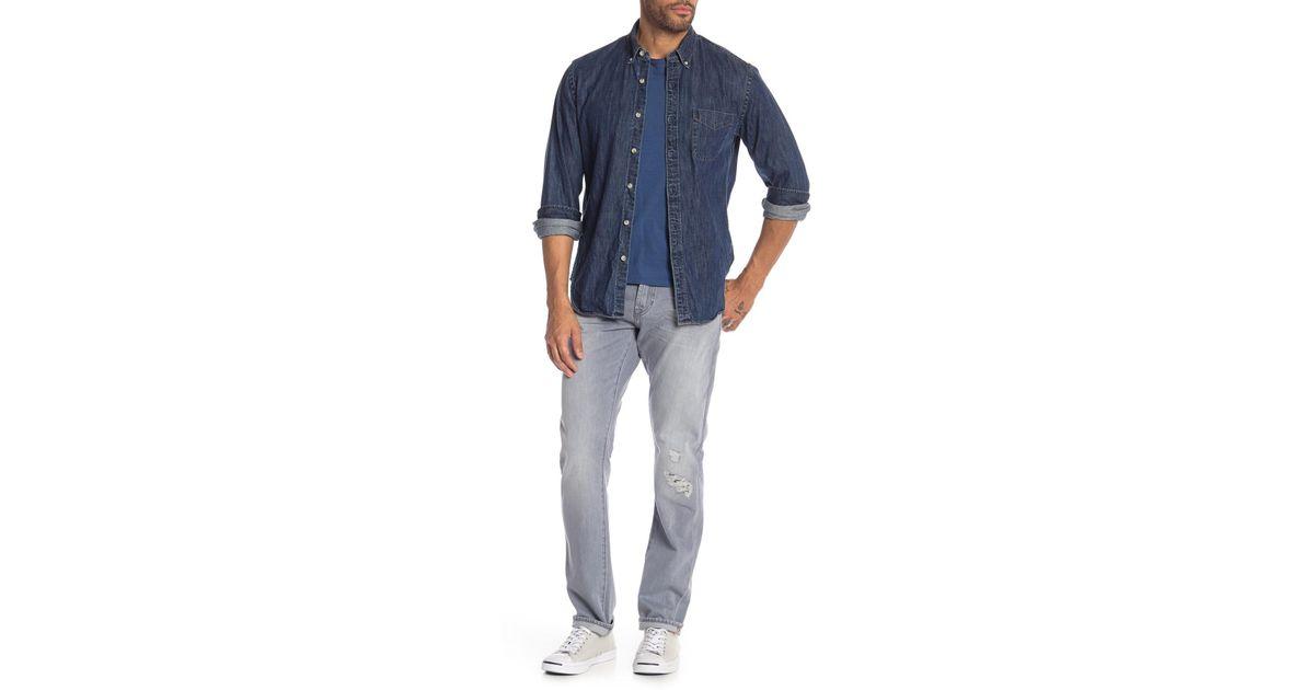 DL1961 Russell Slim Straight Slate Wash Denim Jeans