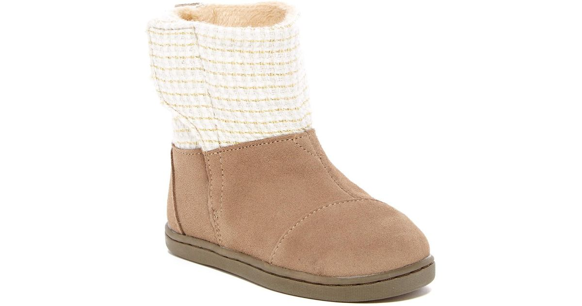 51d02ec65c7 TOMS - Multicolor Suede Metallic Faux Fur Lined Nepal Boot (baby, Toddler,  & Little Kid) - Lyst