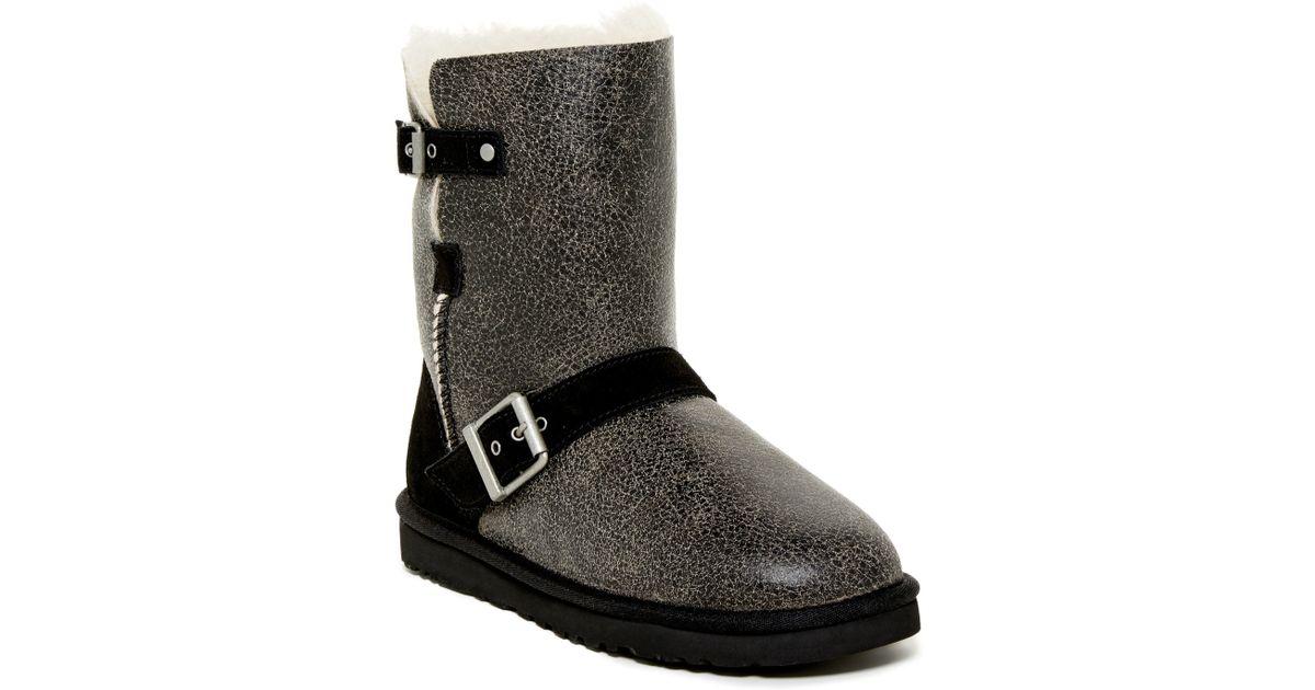 1913de94fbc UGG Black Classic Short Dylyn Genuine Sheepskin Boot