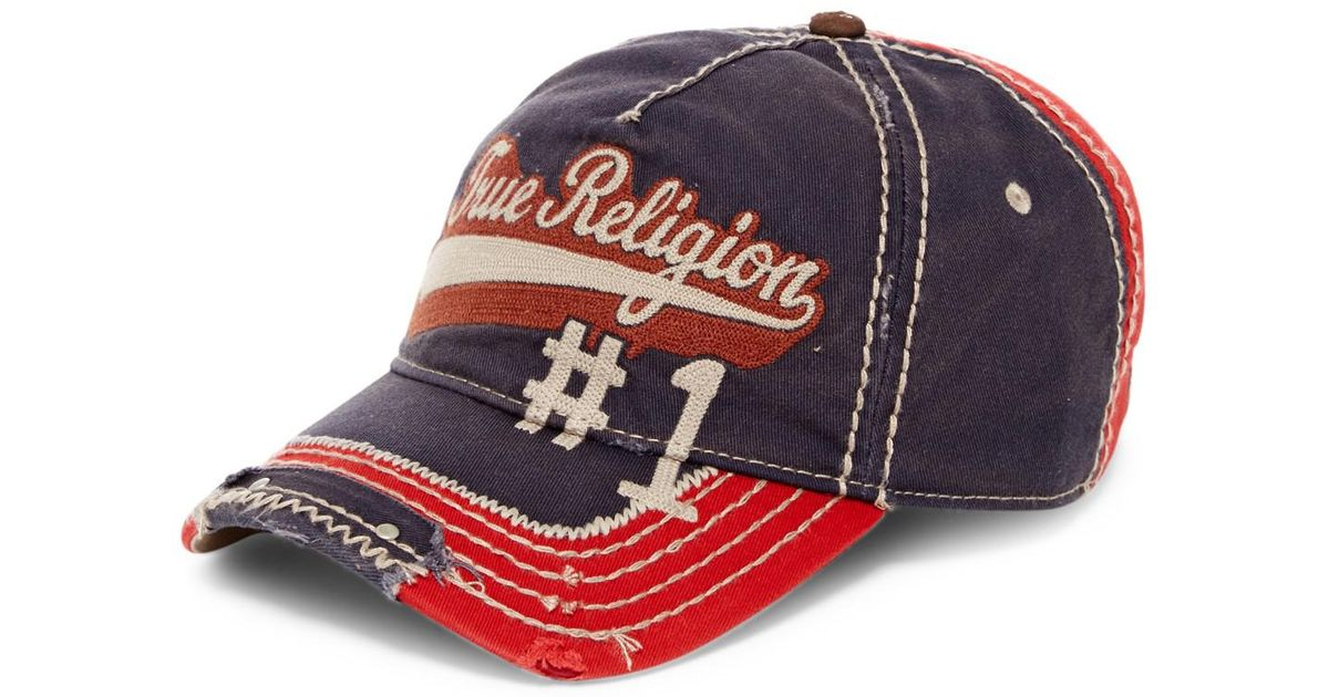 67b99c43 True Religion Script Baseball Cap in Blue for Men - Lyst