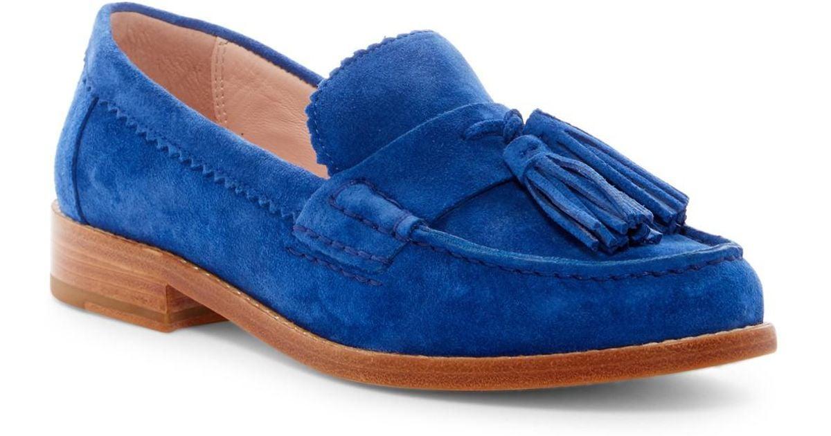 a266e8c46719 Lyst - Kate Spade Blaine Tassel Loafer in Blue
