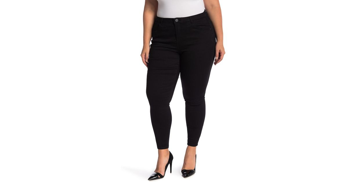 25e98482d47 Lyst - Democracy High Rise Tummy Control Ankle Skinny Jeans (plus Size) in  Black