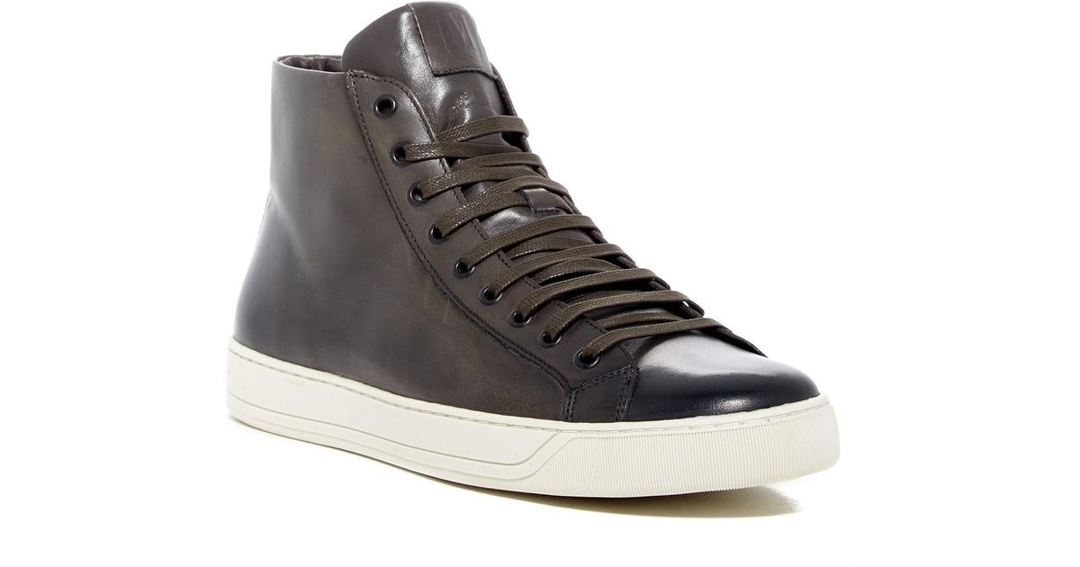1a2ff5756d7 Lyst - Bruno Magli Wilson Leather Hi-top Sneaker in Gray for Men