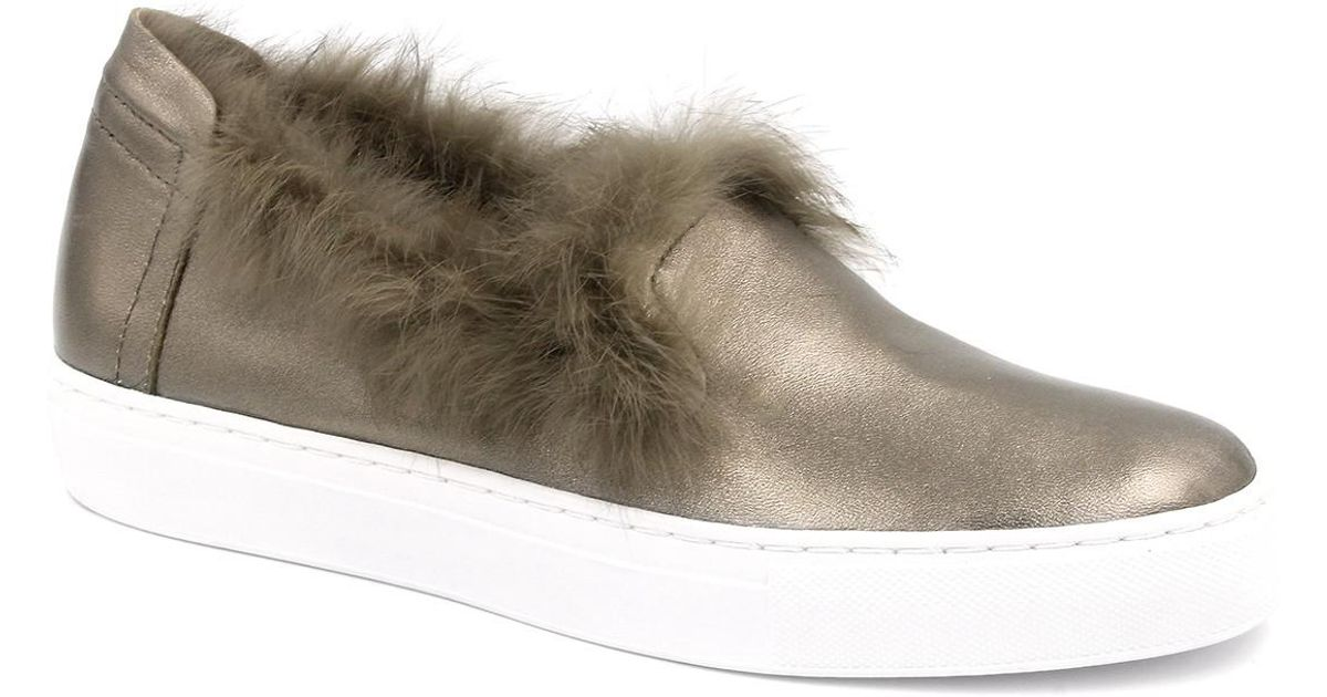 Rachel Zoe Burke Cuir Véritable Fourrure De Lapin Sneaker Slip-on Prix Pas Cher En Ligne Zcf9gU245r