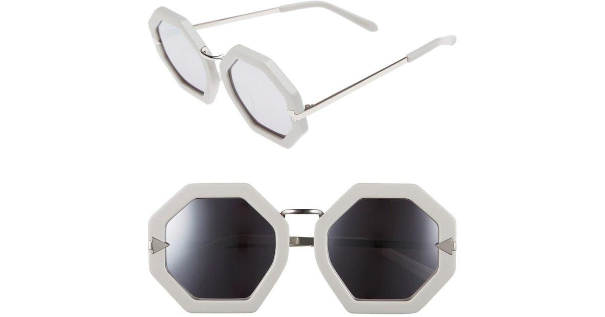 3c6d8dfc7d2 Karen Walker Moon Disco 53mm Octagonal Sunglasses - Lyst