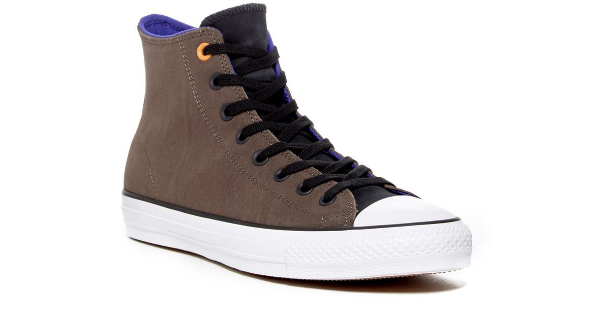 ff5b9e9f8217 Lyst - Converse Chuck Taylor All Star Pro Leather Hi Sneaker (unisex) in  Brown for Men