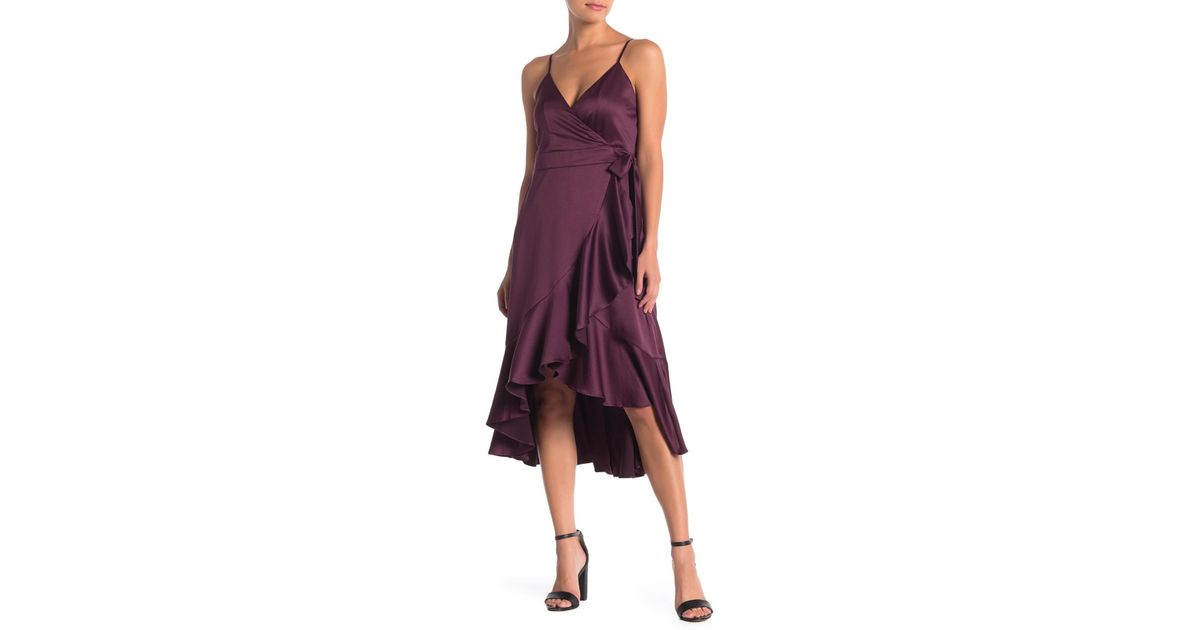 468b5ea1c7a Lyst - Band Of Gypsies Payton Ruffled High low Dress in Purple