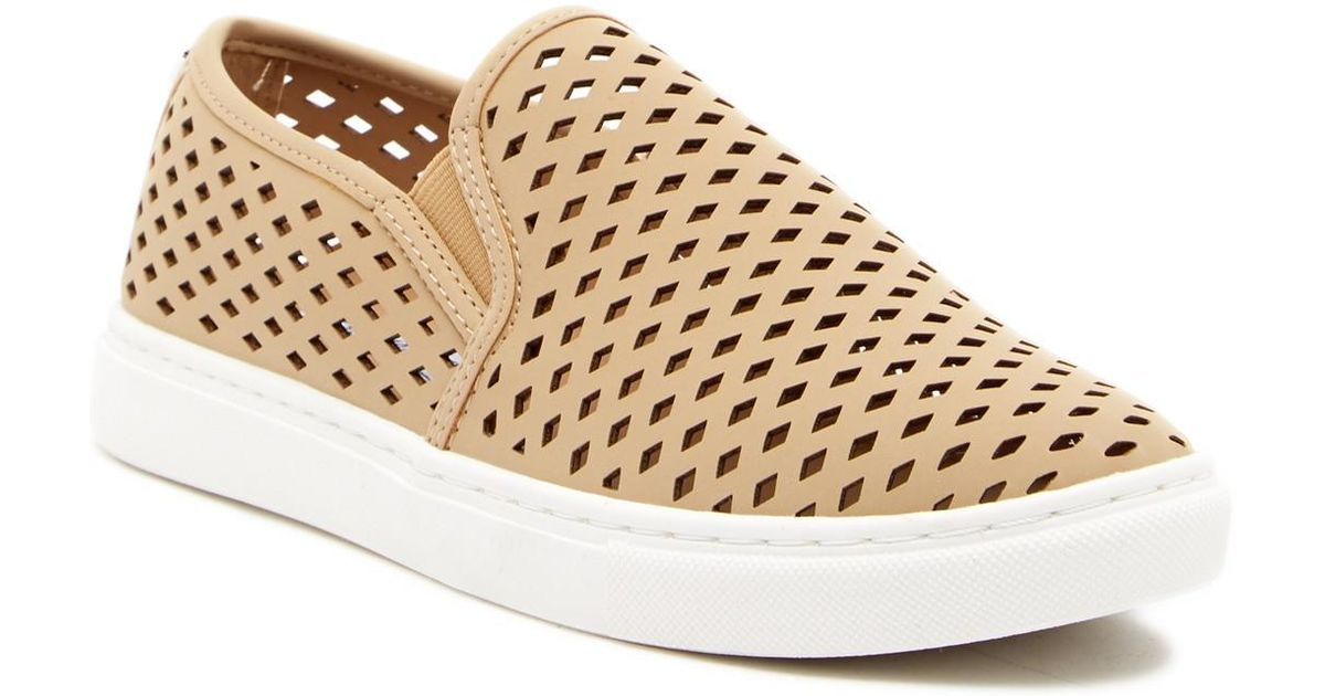 b5f396f97d733 Lyst - Steve Madden Zeena Slip-on Sneaker in Natural