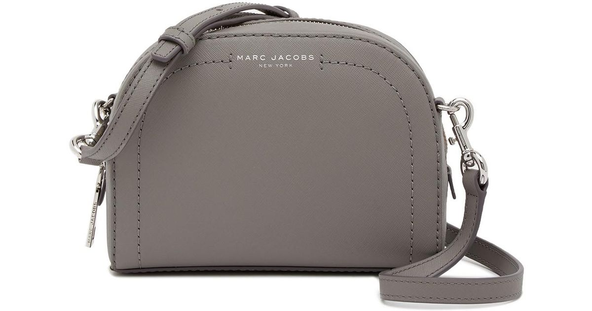 ebd70be281 Lyst - Marc Jacobs Playback Leather Crossbody Bag in Gray