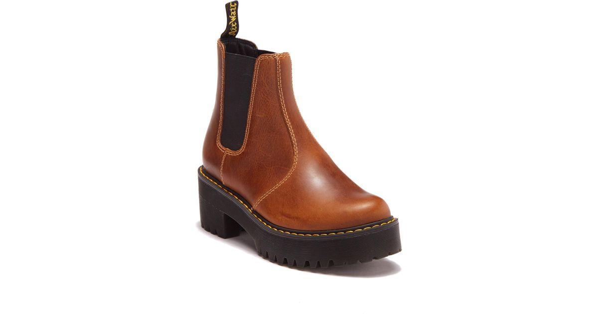 rometty platform chelsea boots